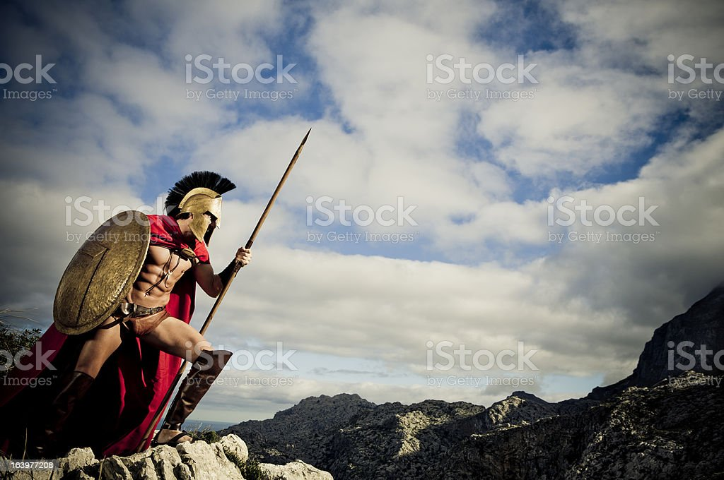 watching spartan stock photo