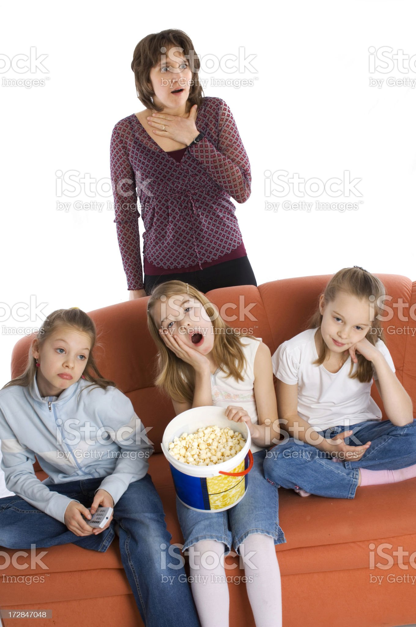 Watching television royalty-free stock photo