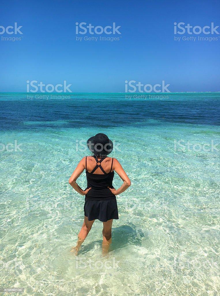 Watching the atoll stock photo