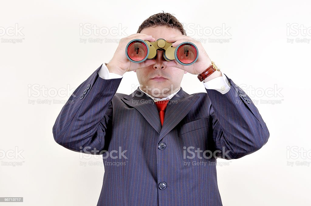 watching the future royalty-free stock photo