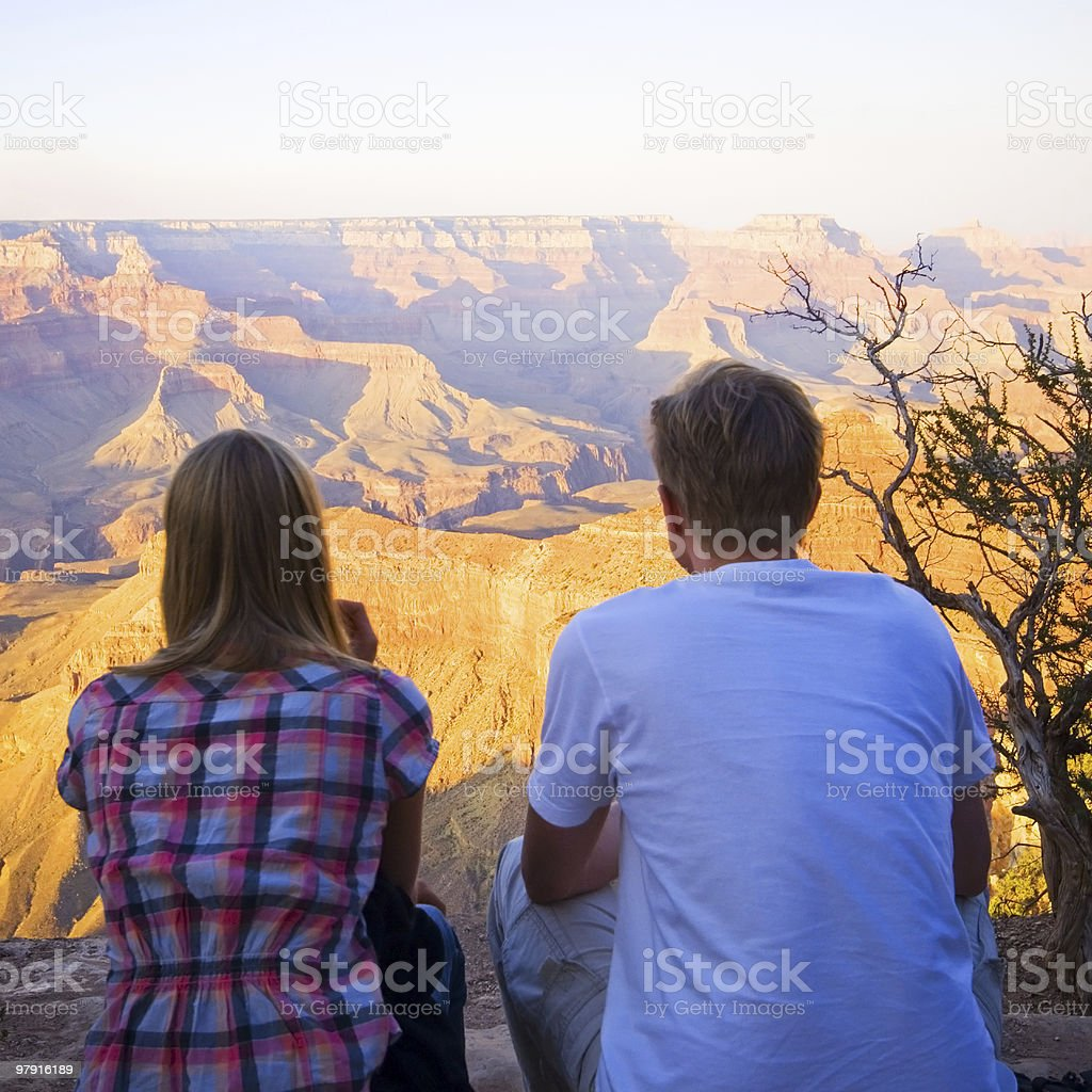 Watching the Grand Canyon royalty-free stock photo