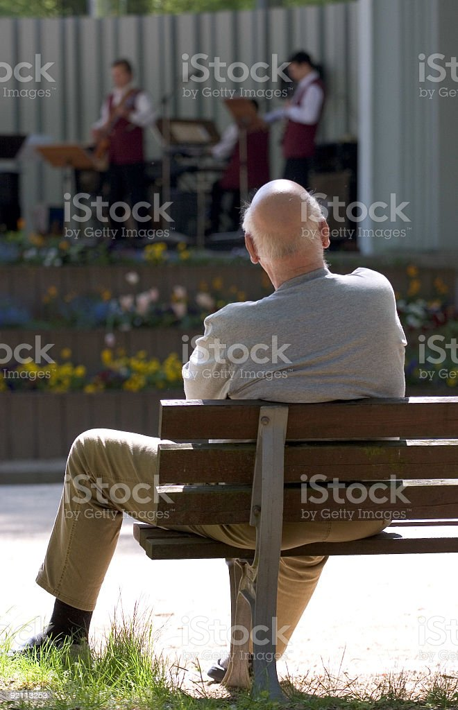 Watching the Jazz royalty-free stock photo
