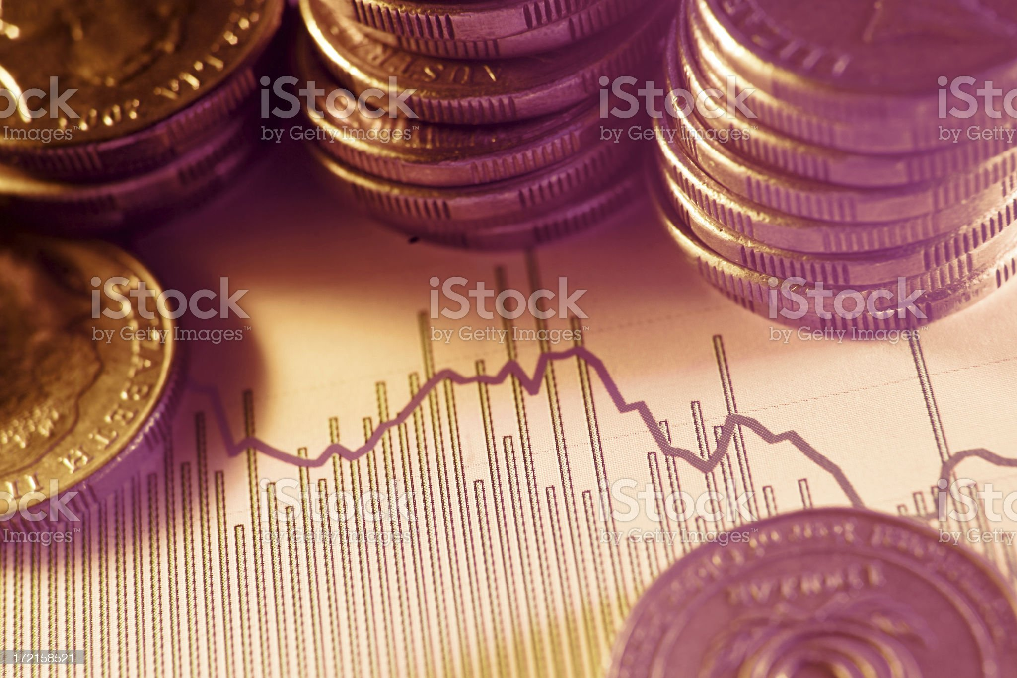 Watching the Market royalty-free stock photo