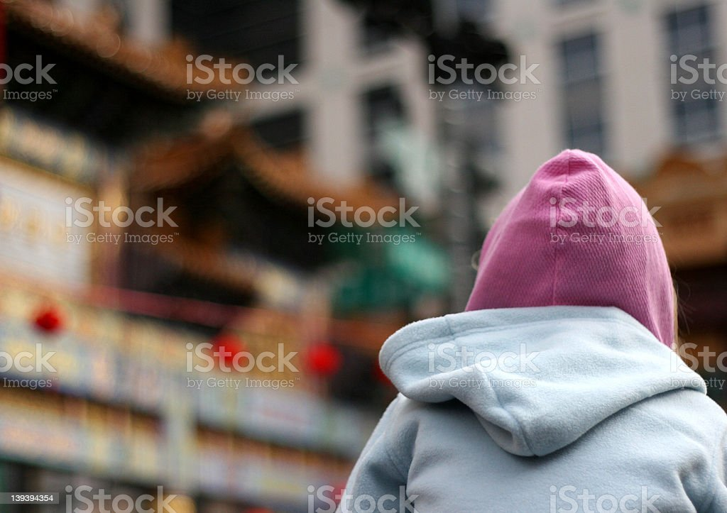 Watching the Parade royalty-free stock photo