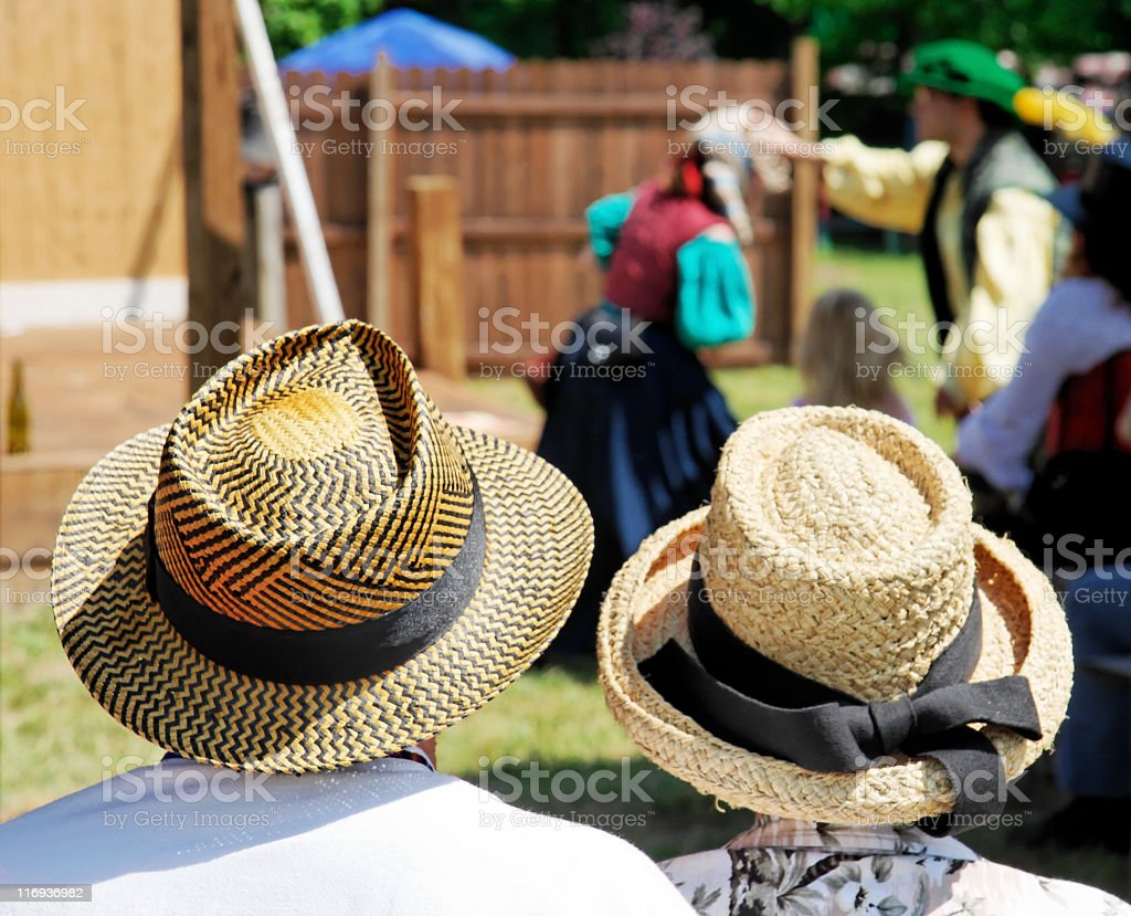 Watching the Play royalty-free stock photo