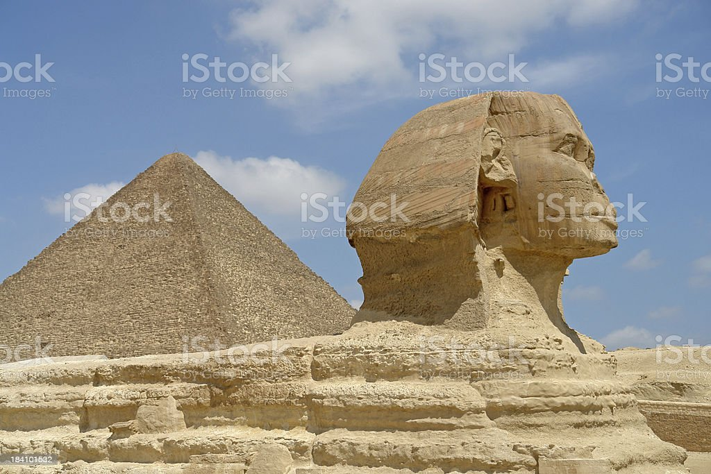 Watching the Pyramids stock photo