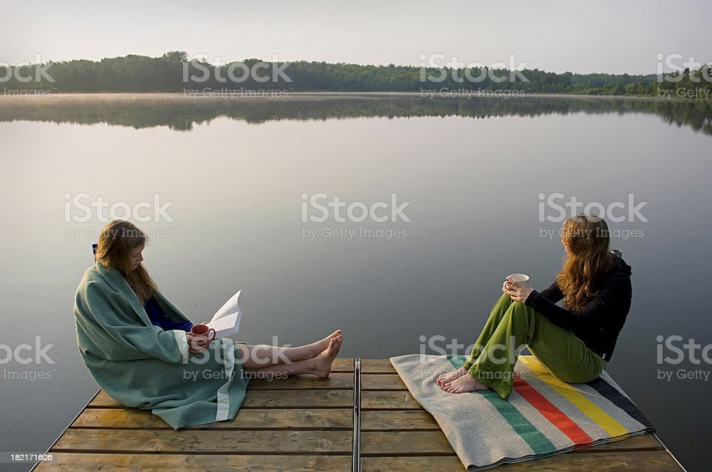 watching the sunrise, together royalty-free stock photo
