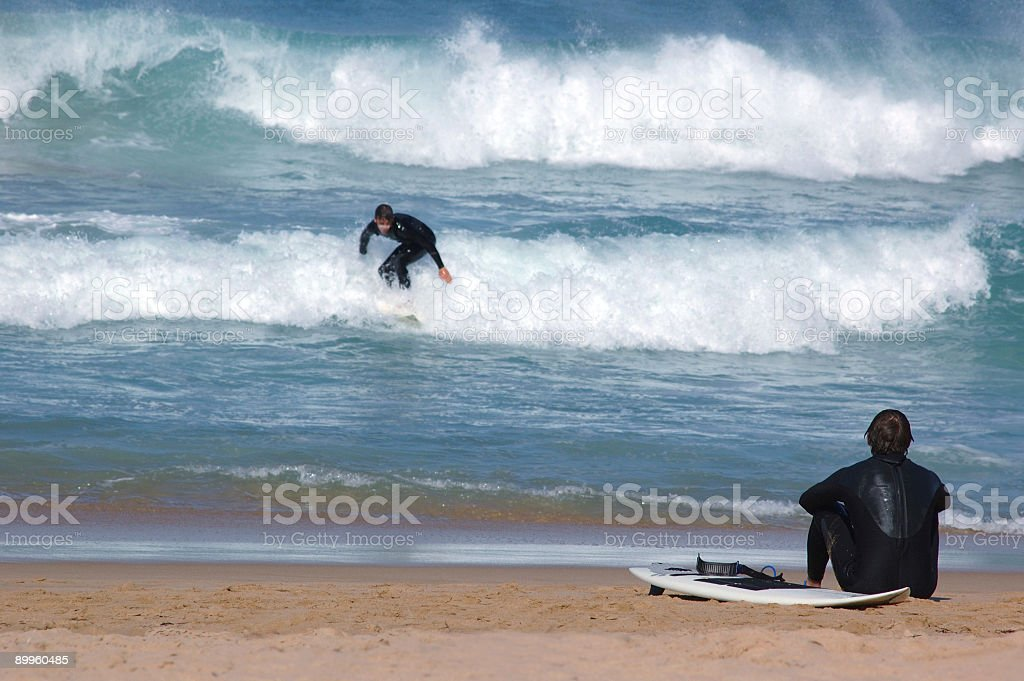 Watching the Surfer royalty-free stock photo