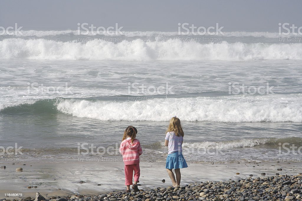 Watching the Waves stock photo