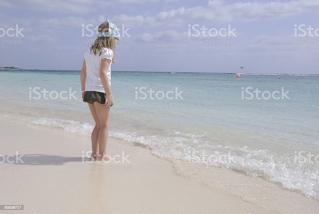 Watching the Waves royalty-free stock photo