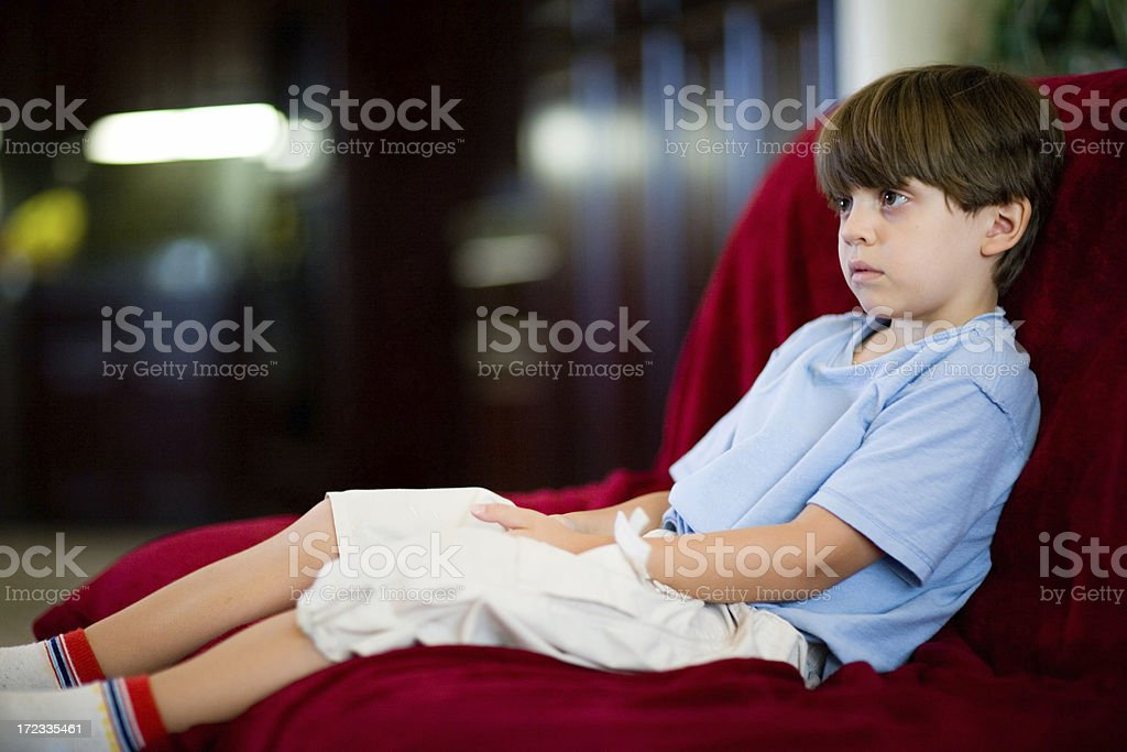 Watching TV And Resting royalty-free stock photo