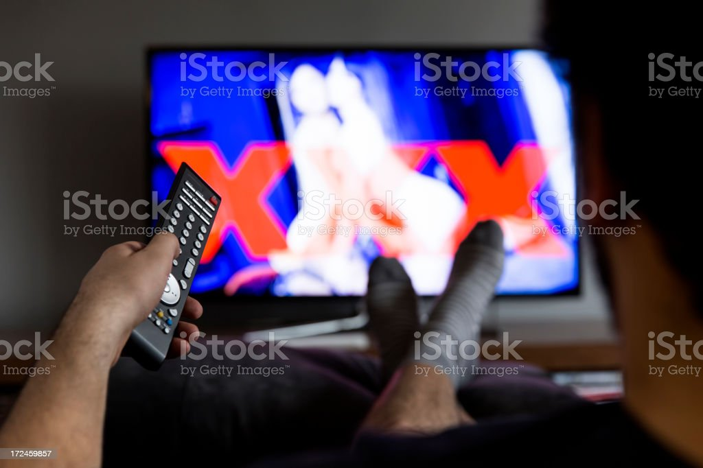 Watching tv royalty-free stock photo