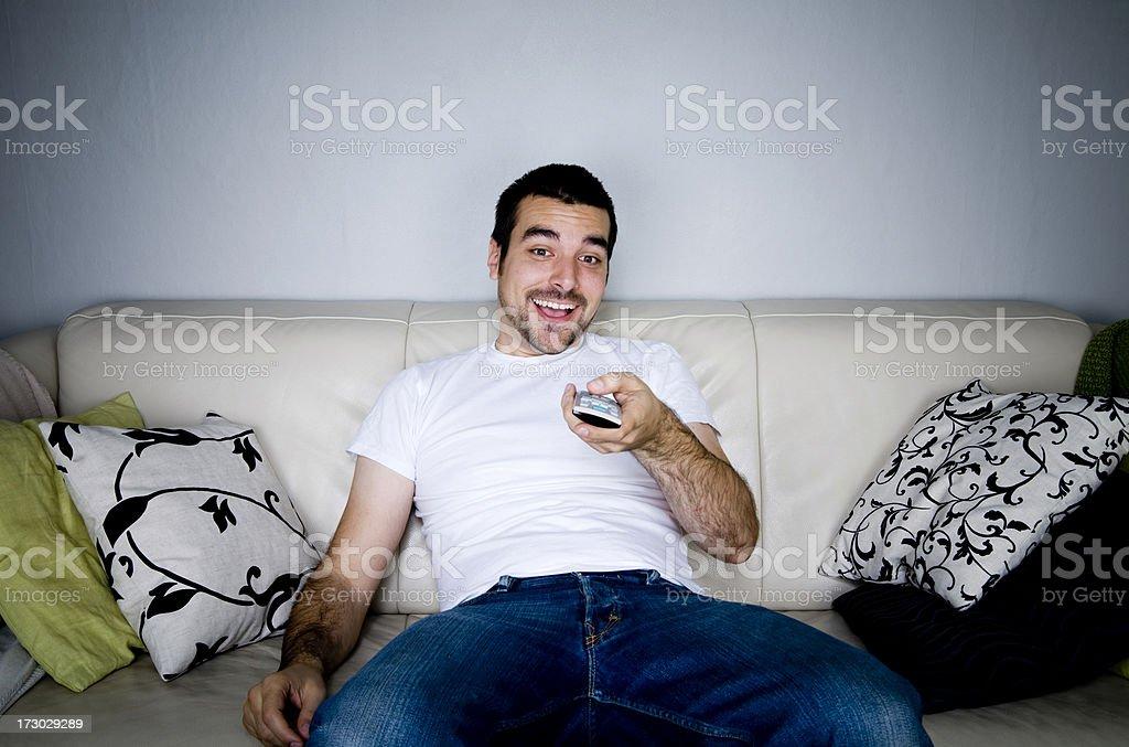 Watching TV royalty-free stock photo