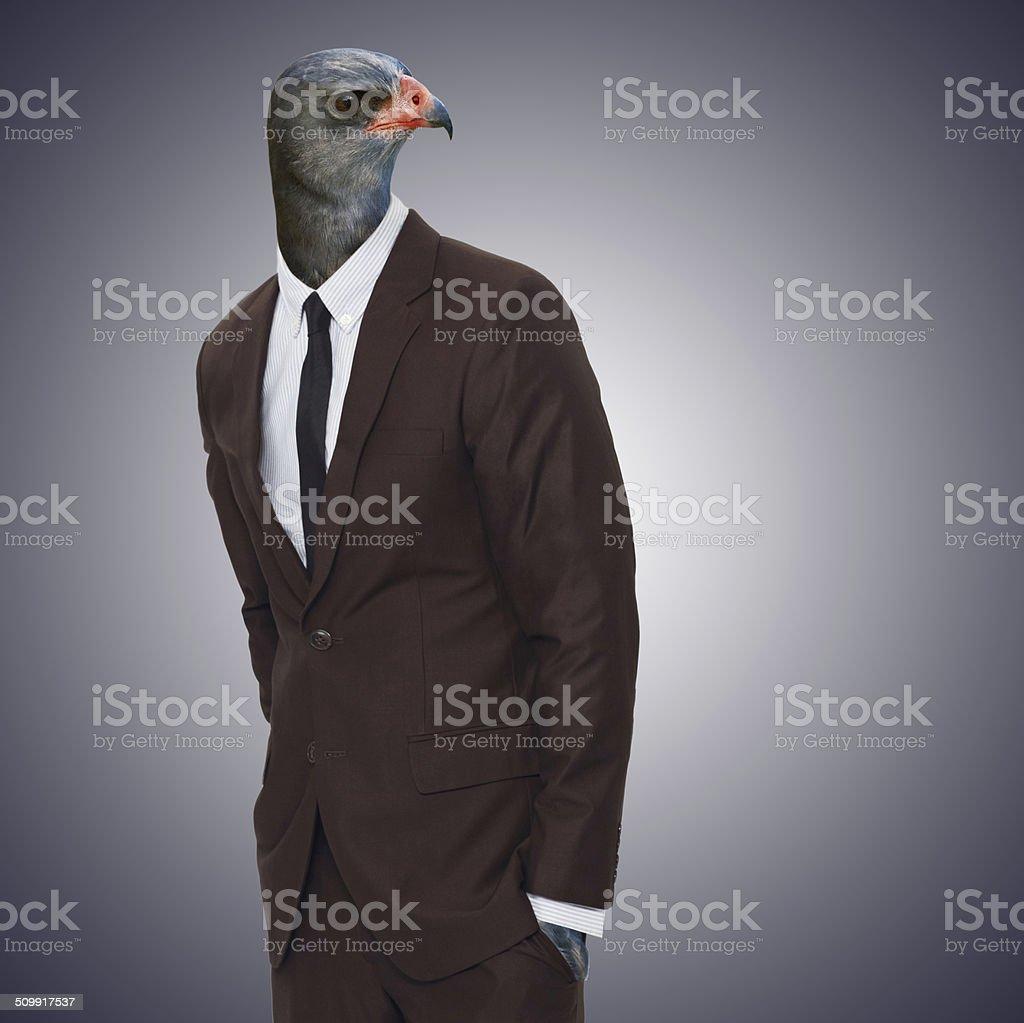 Watching you like a boss stock photo