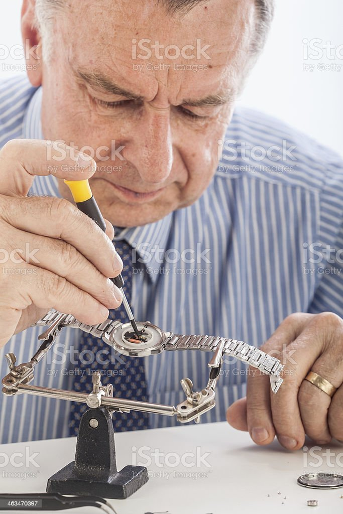 Watchmaker royalty-free stock photo