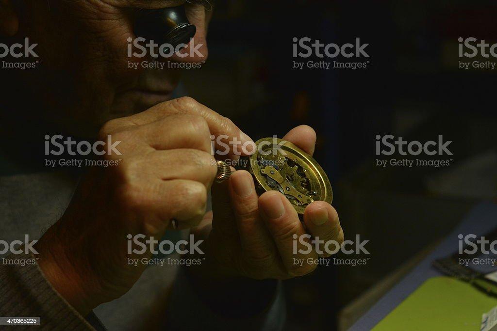 Watchmaker Arbeiten Lizenzfreies stock-foto