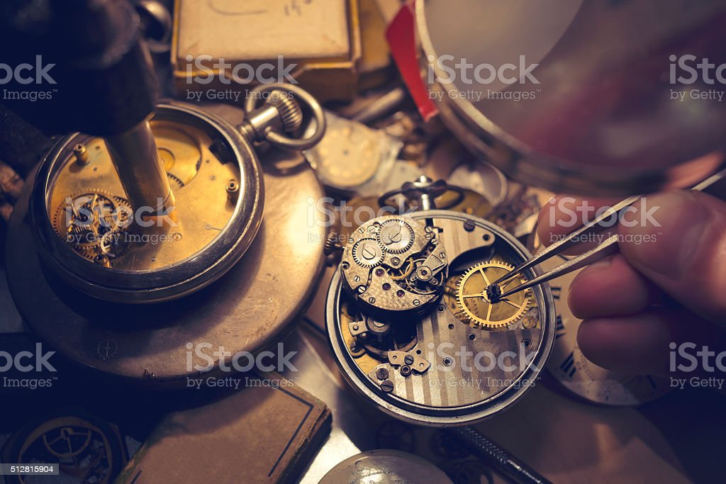 Watchmakers Craftmanship stock photo