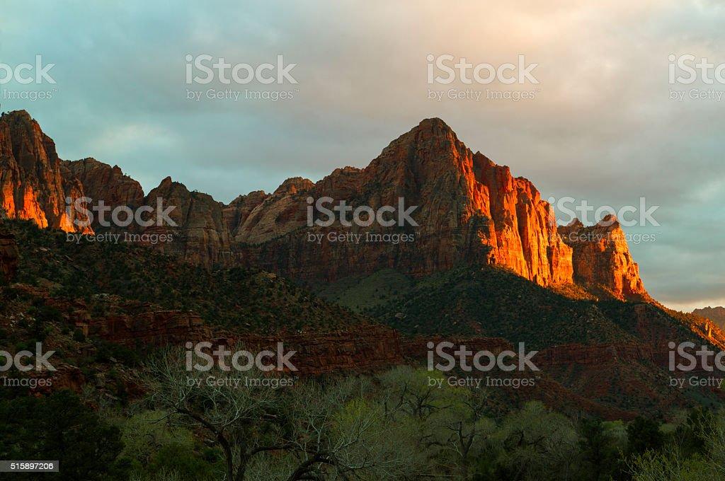 Watchman at Sunset stock photo