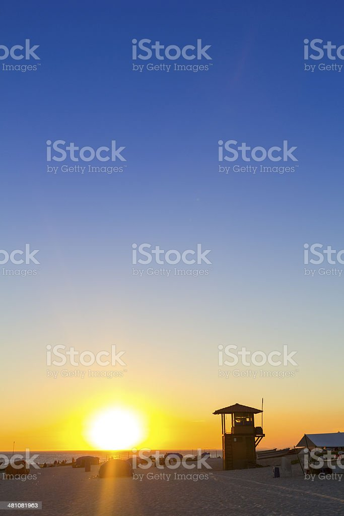 Watchtower at the beach royalty-free stock photo