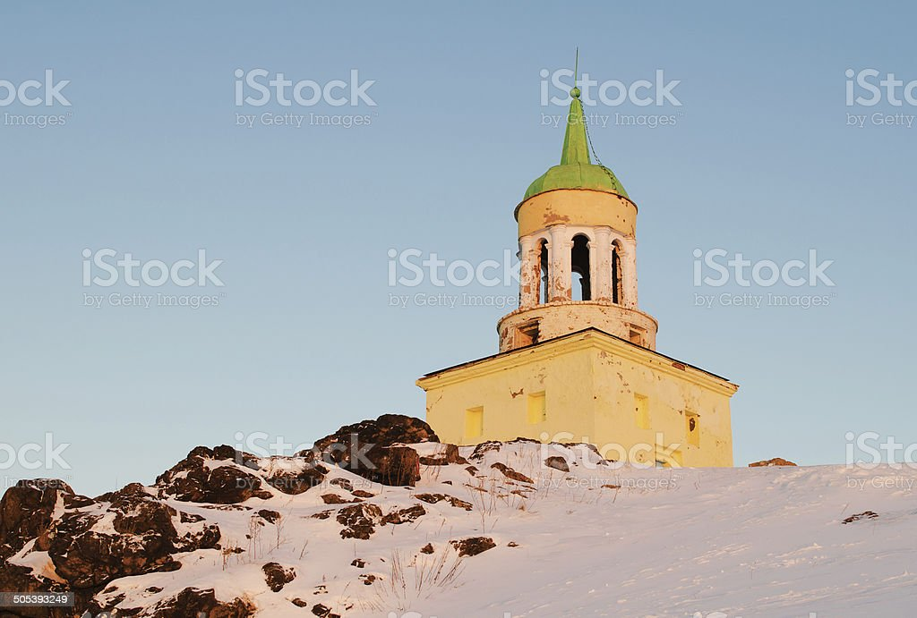 Watchtower on a grief Lisya stock photo