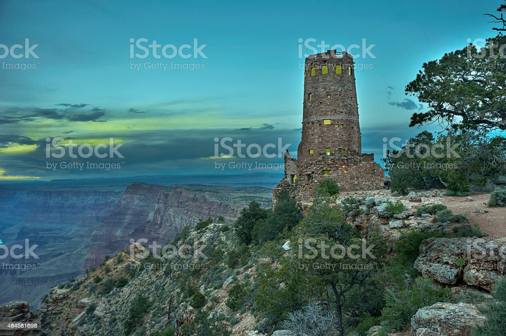 Watchtower,Grand Canyon, National Park, Arizona stock photo