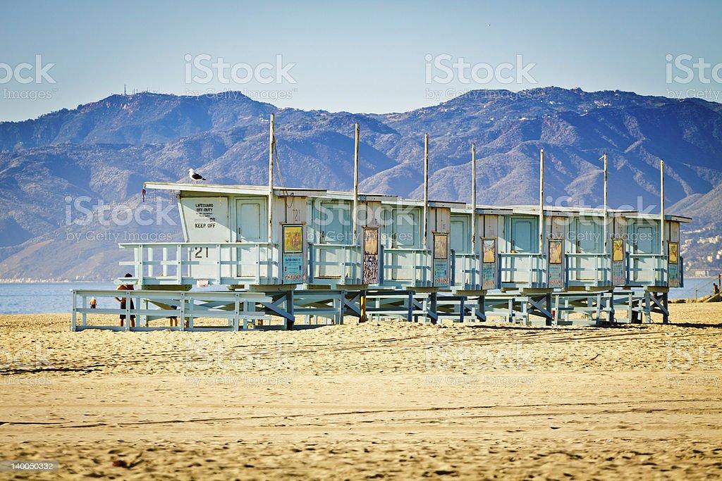 Watchtwers in VENICE BEACH stock photo