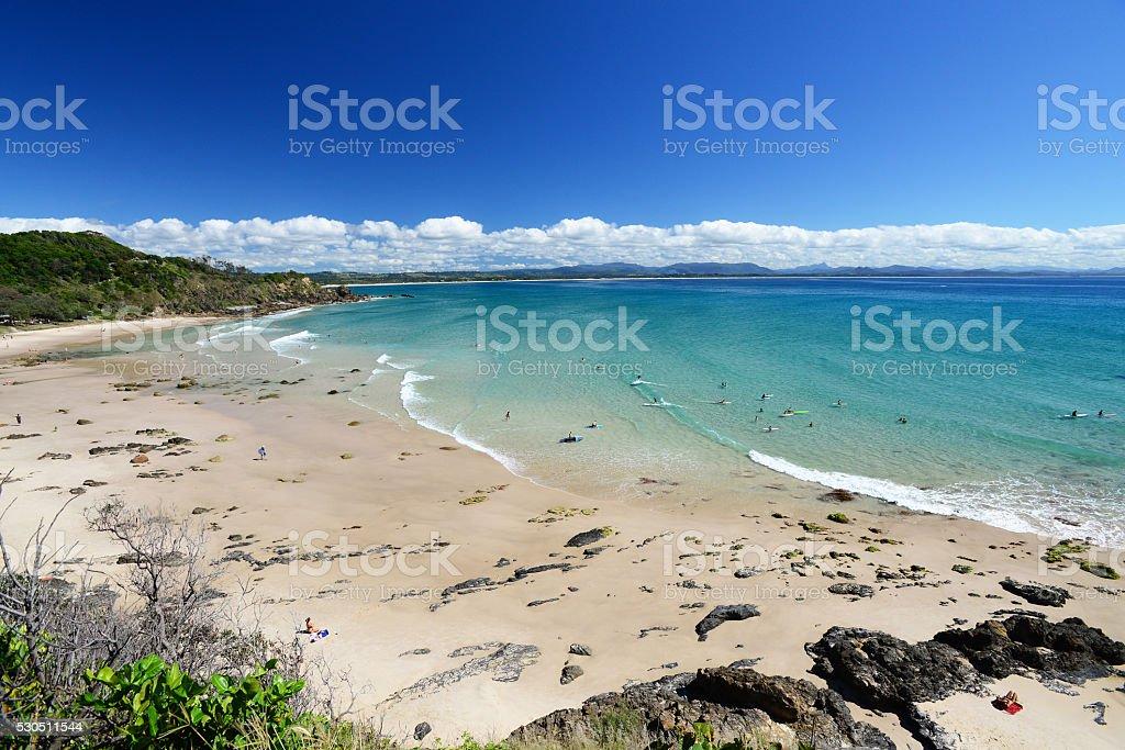 Wategos Beach stock photo