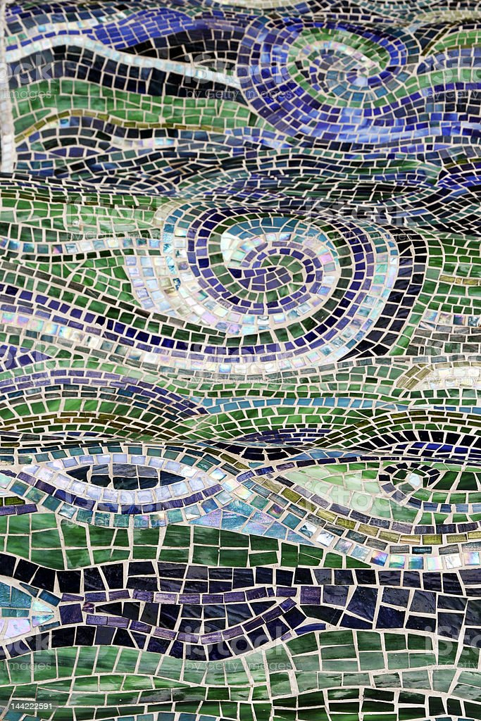 Water Abstract, Mosaic Background royalty-free stock photo