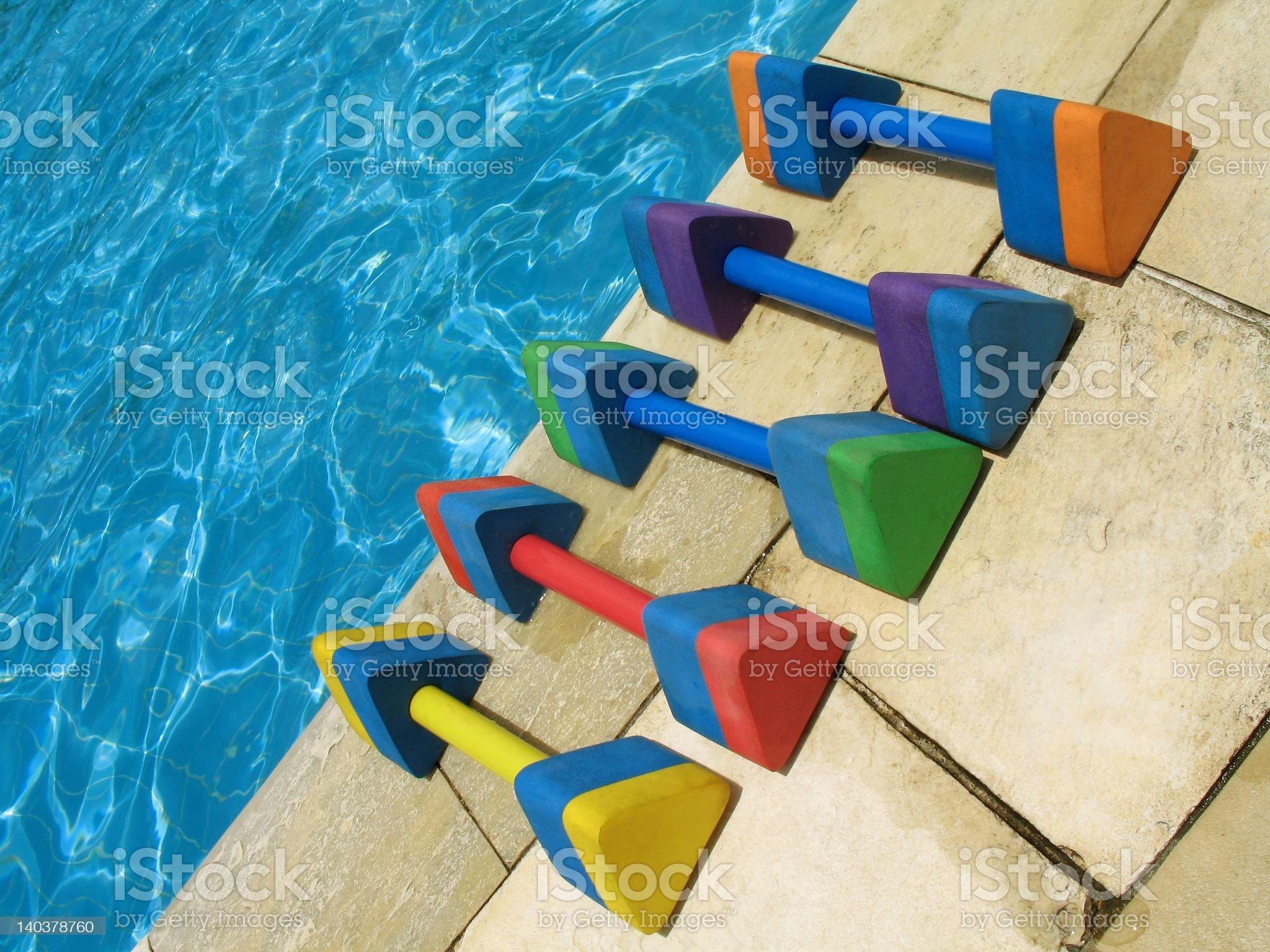 Water aerobics - 1 royalty-free stock photo