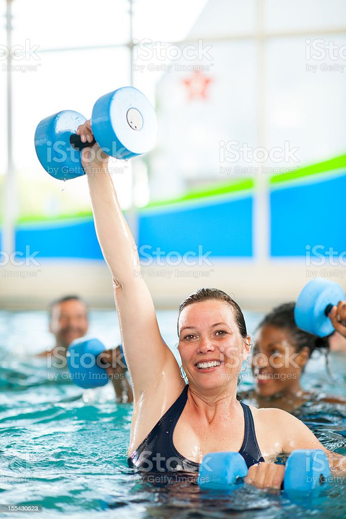Water aerobics group royalty-free stock photo