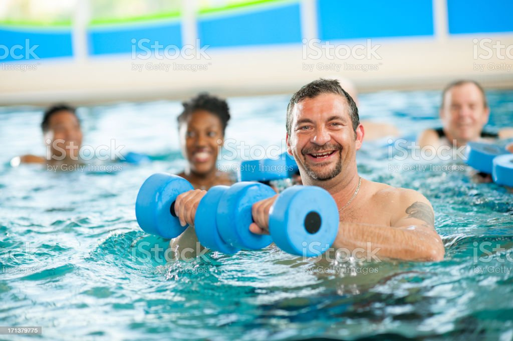 Water aerobics group royalty-free stock photo
