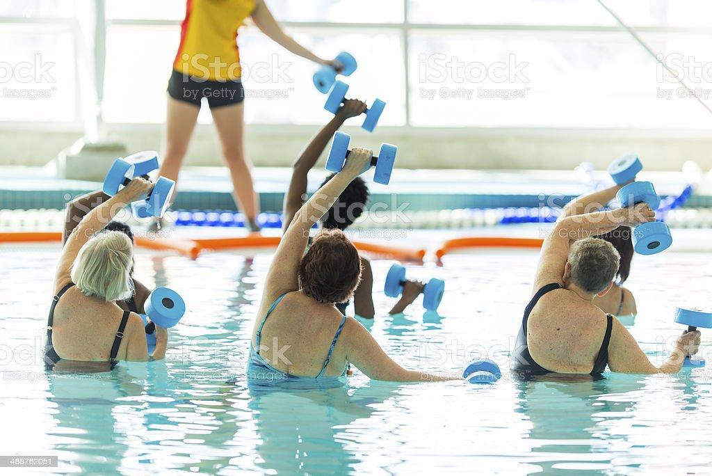 Water Aerobics royalty-free stock photo