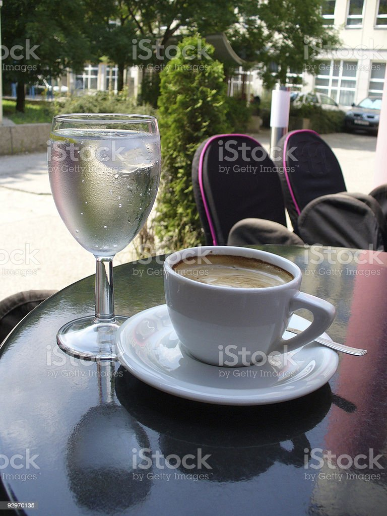 water and coffee stock photo