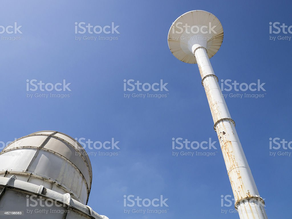 water and cooling tower royalty-free stock photo