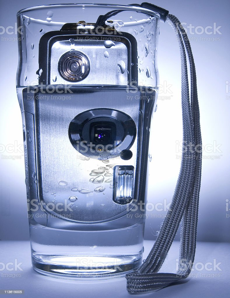 water and digital camera stock photo