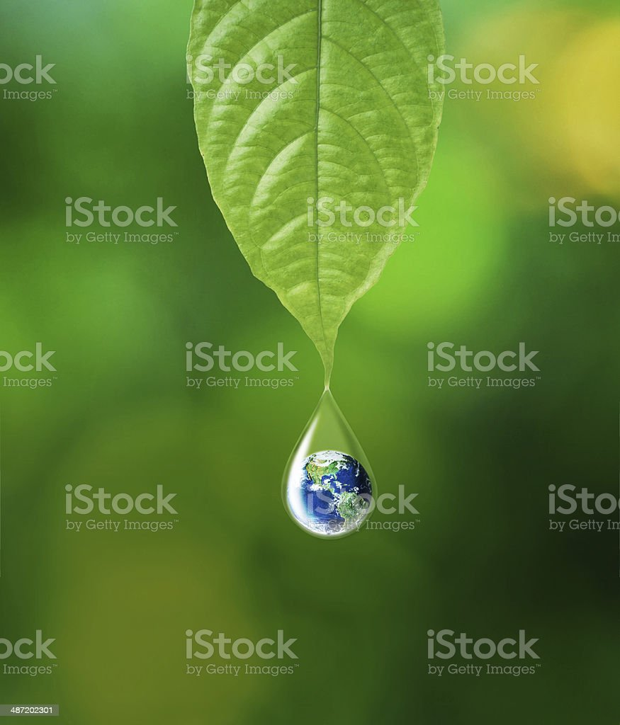 Water and Earth stock photo