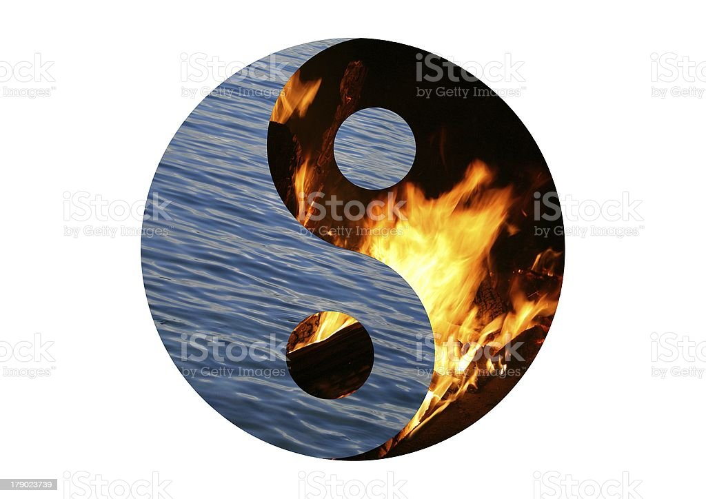 water and fire royalty-free stock photo