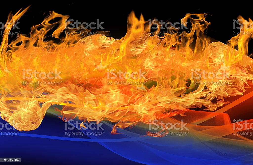 Water and Fire stock photo