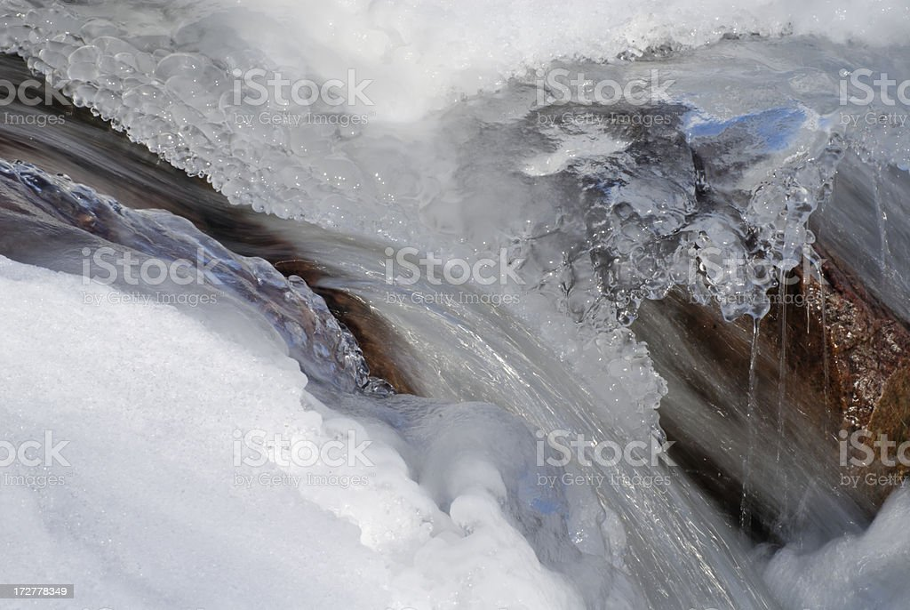 Water and Ice royalty-free stock photo