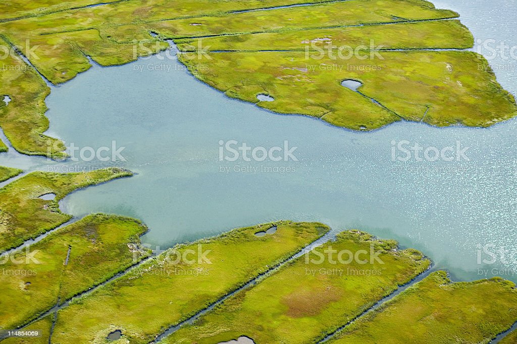 Water and landscape, Newport County, Rhode Island, USA stock photo