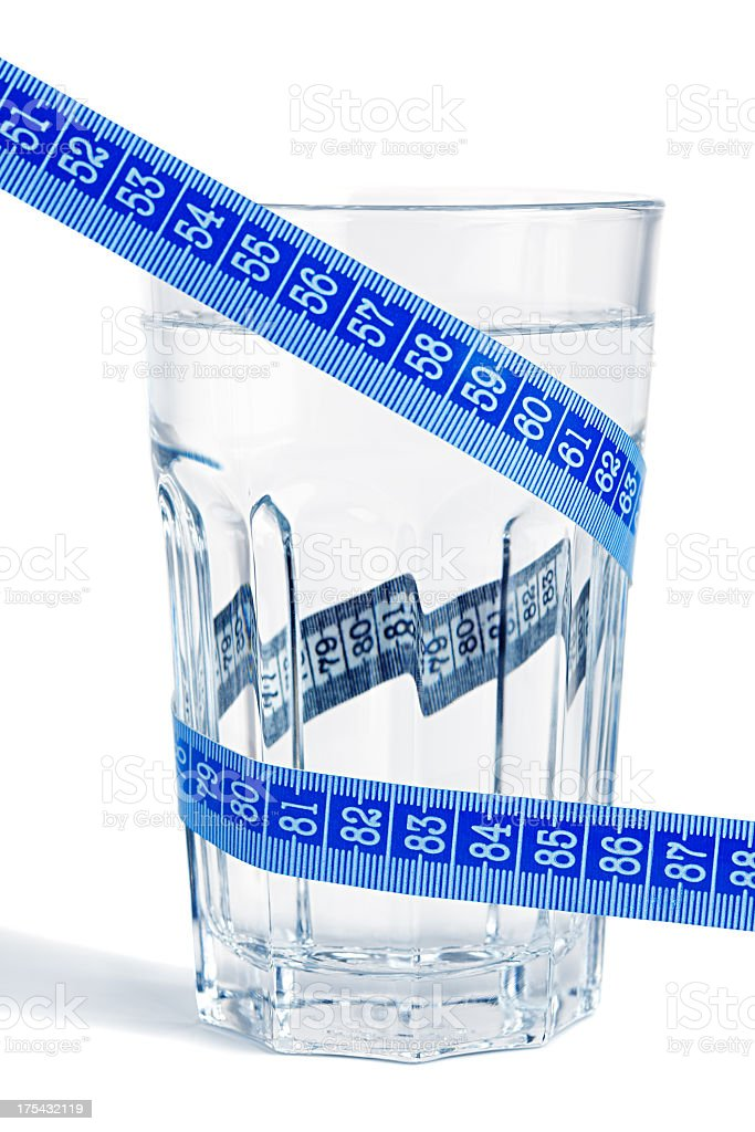 Water and measure stock photo