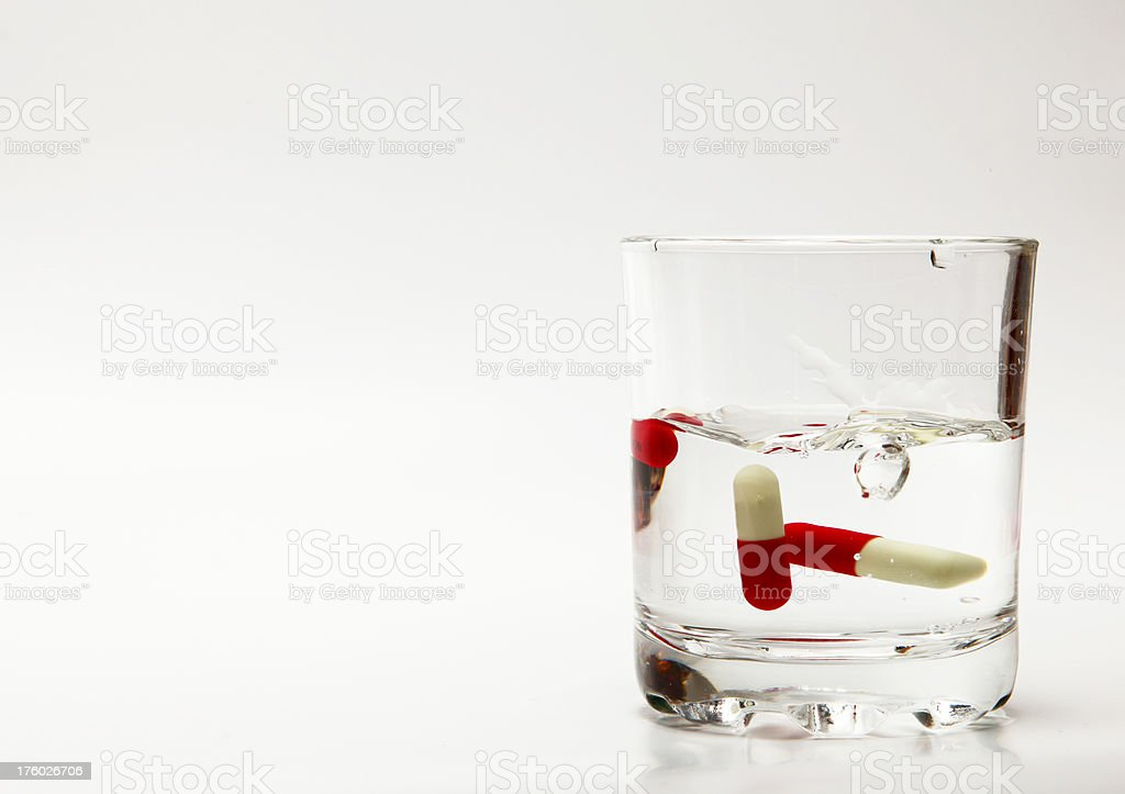 Water and Pill royalty-free stock photo