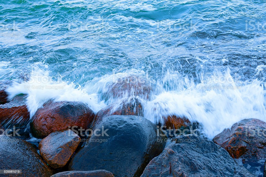 Water and rocks stock photo