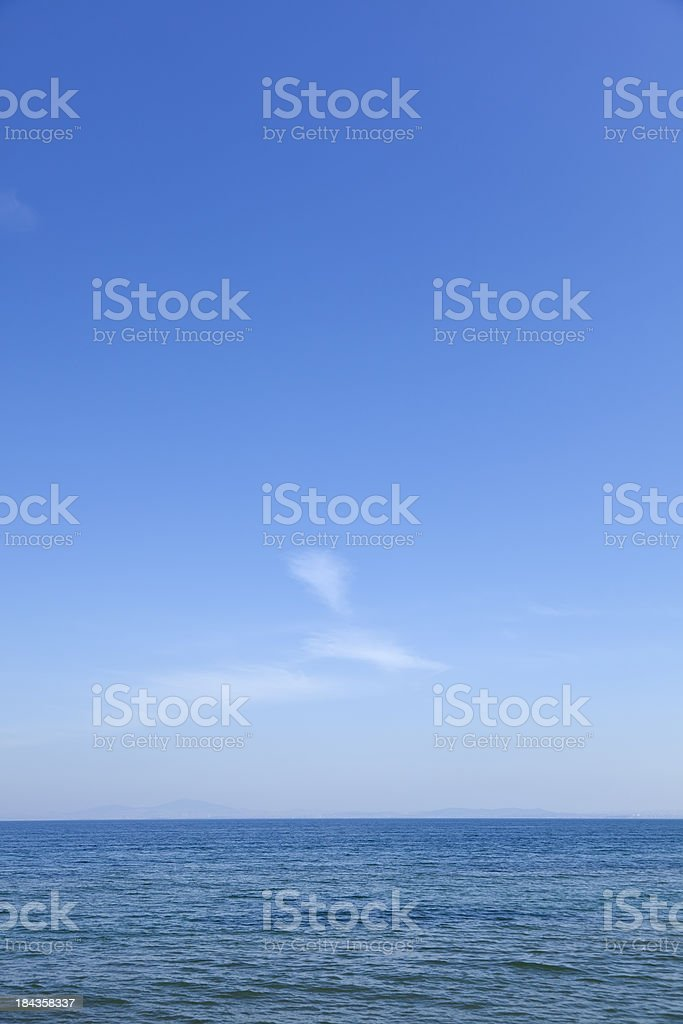 Water and Sky royalty-free stock photo