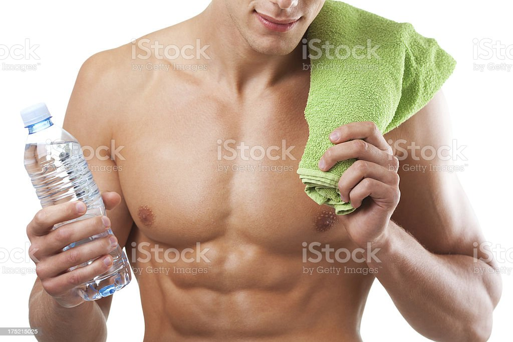 Water and towel stock photo