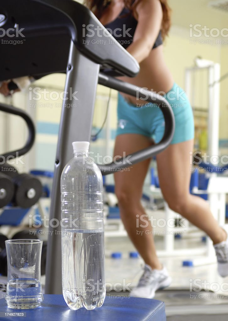 Water and Treadmill royalty-free stock photo