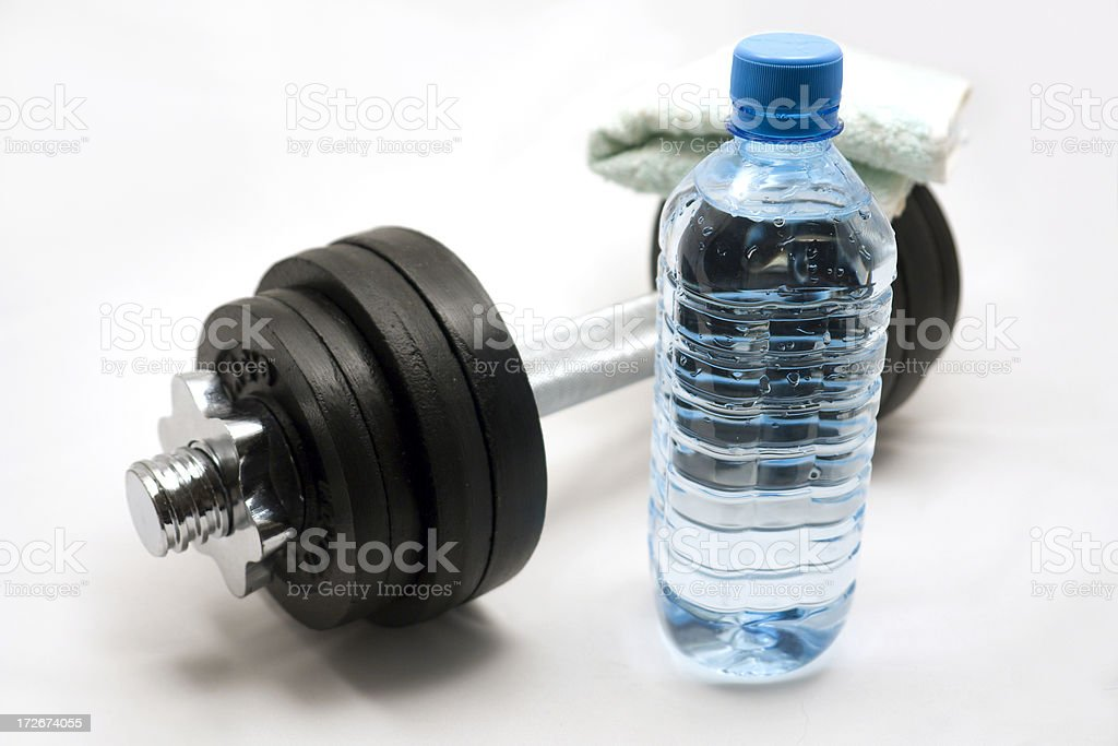 Water and weights royalty-free stock photo
