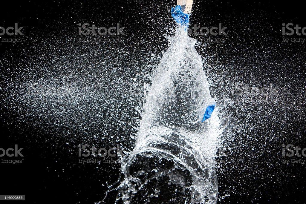 Water Balloon Shot Thru stock photo