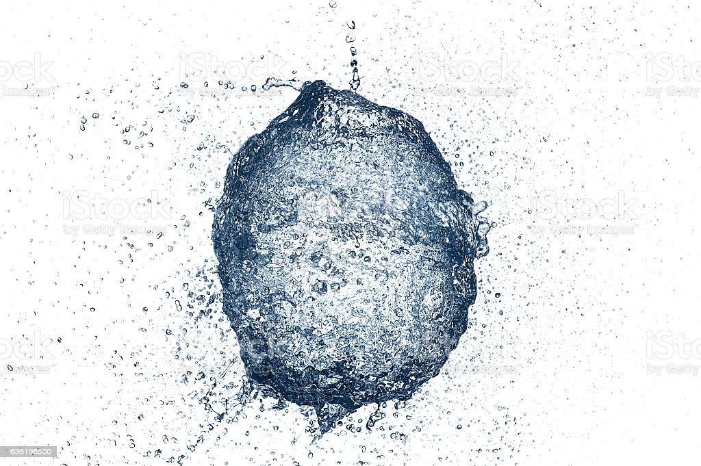 water balloon splash stock photo