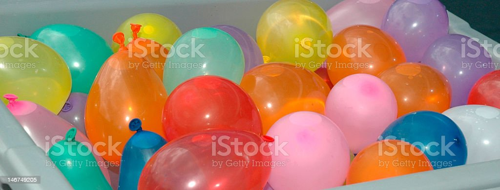 Water balloons at the ready stock photo